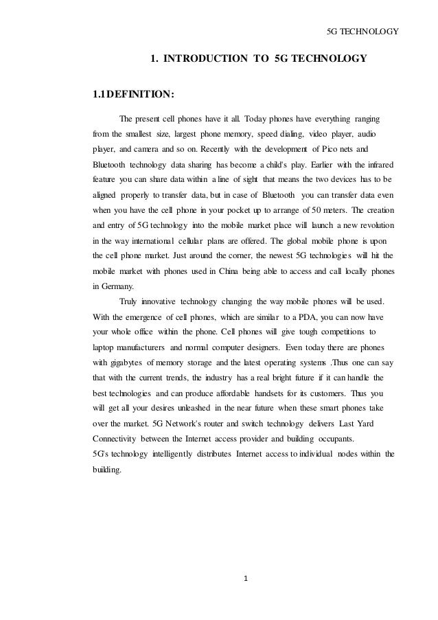 Technology pdf ppt 5g
