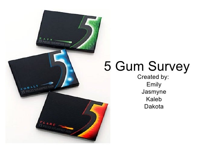 5 Gum Survey Created by:  Emily Jasmyne Kaleb Dakota