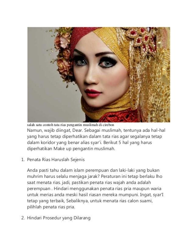 5 Hal Yang Harus Diperhatikan Make Up Pengantin Muslimah