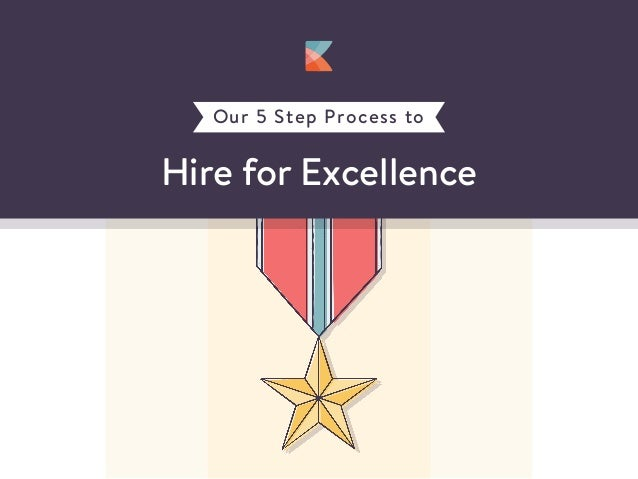 Hire for Excellence Our 5 Step Process to