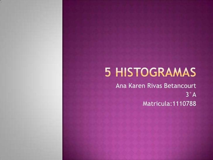 Ana Karen Rivas Betancourt                      3°A        Matricula:1110788