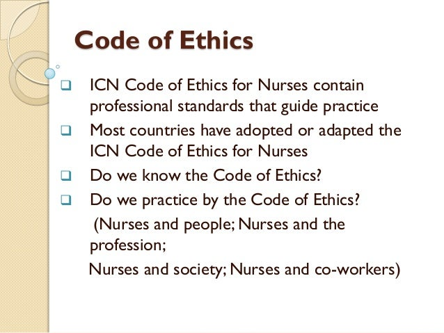 Ethical code