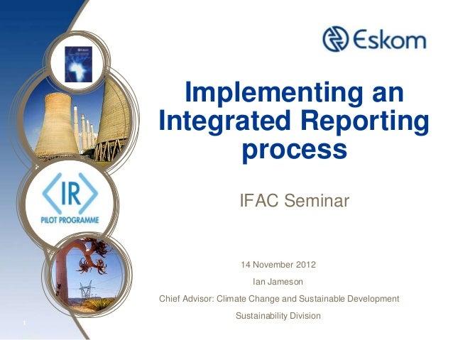 Implementing an    Integrated Reporting          process                      IFAC Seminar                       14 Novemb...
