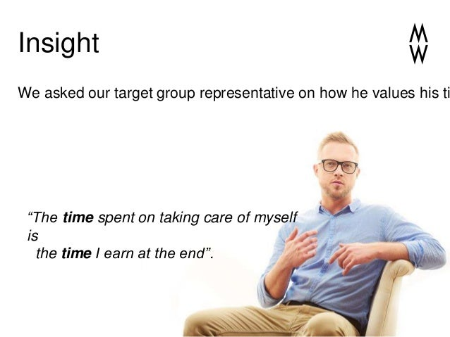 """Insight """"The time spent on taking care of myself is the time I earn at the end"""". We asked our target group representative ..."""