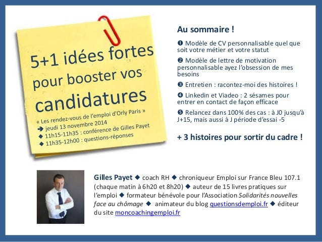 5 idees fortes pour booster vos candidatures