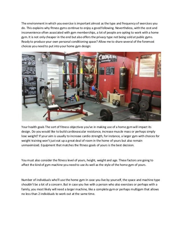 5 Important Factors That Affect Your Home Gym Design Converted