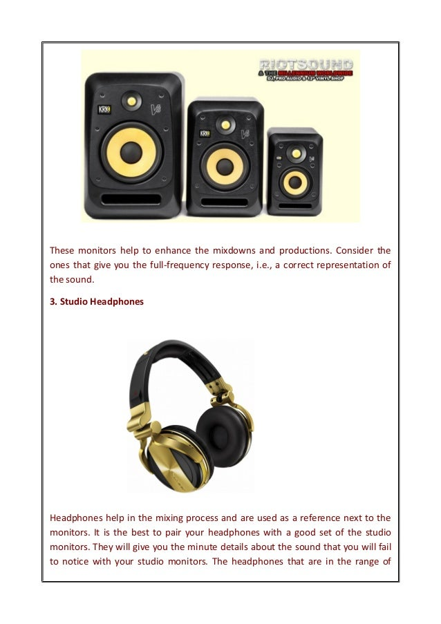 5 Important Music Production Equipment List For Your Home Studio