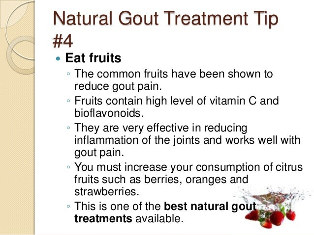 What Is The Best Natural Treatment For Gout