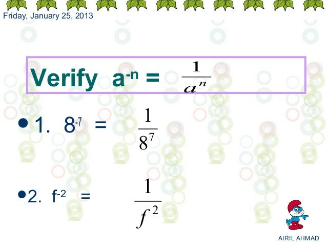 Friday, January 25, 2013                                      1       Verify a =          -n                              ...