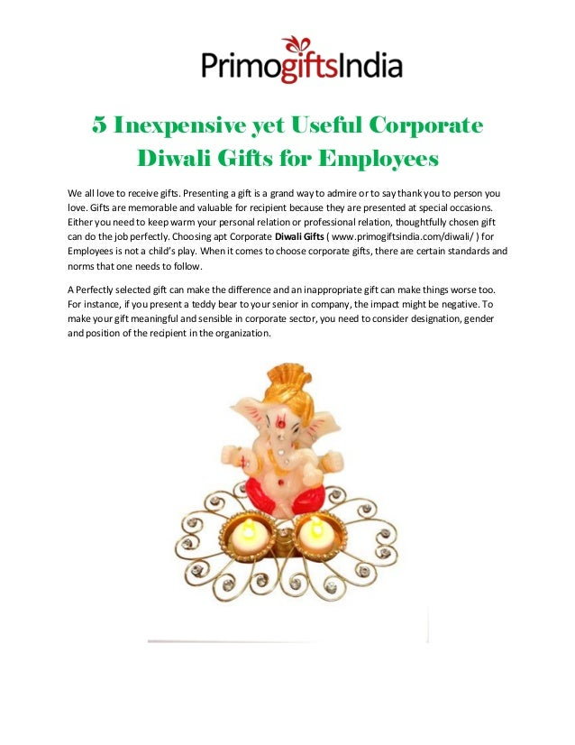 5 inexpensive yet useful corporate diwali gifts for employees