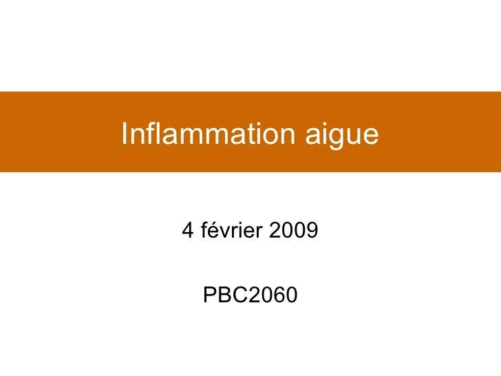 Inflammation aigue 4 février 2009 PBC2060