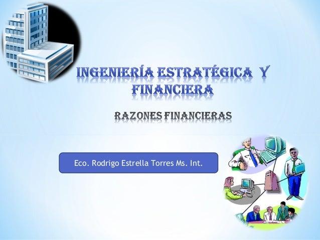 Eco. Rodrigo Estrella Torres Ms. Int.