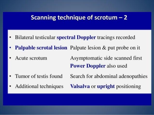 Imaging of Inguino scrotal region
