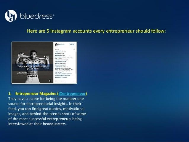 Instagram entrepreneurs to follow