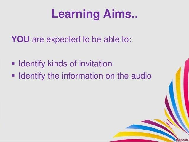 5 invitatin list Slide 2