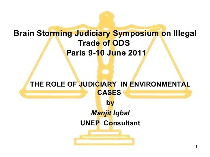 Brain Storming Judiciary Symposium on Illegal Trade of ODS   Paris 9-10 June 2011 THE ROLE OF JUDICIARY  IN ENVIRONMENTAL ...