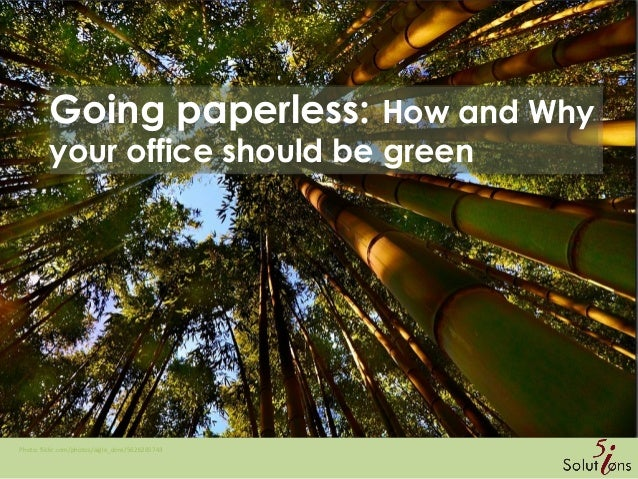 Going paperless: How and Why your office should be green Photo: flickr.com/photos/aigle_dore/5626285743