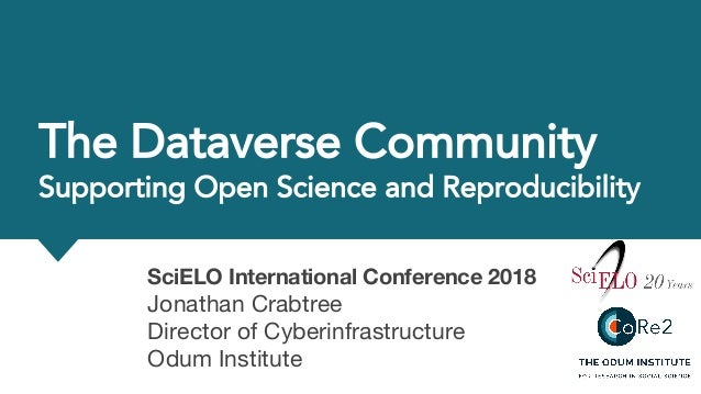 SciELO International Conference 2018 Jonathan Crabtree Director of Cyberinfrastructure Odum Institute