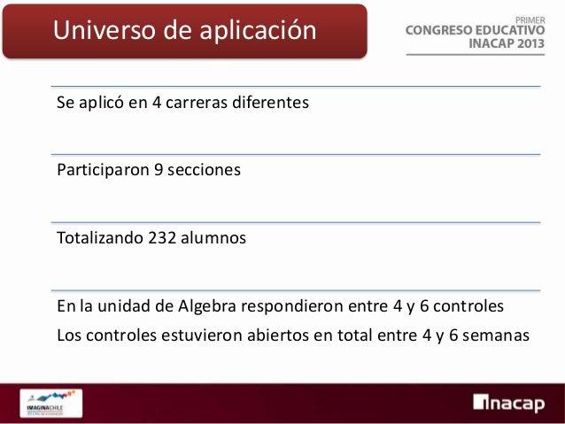 Resultados preliminares Área Mecánica • 663 controles • 51 alumnos • 13 controles/alumno  Conclusiones: En la unidad de in...