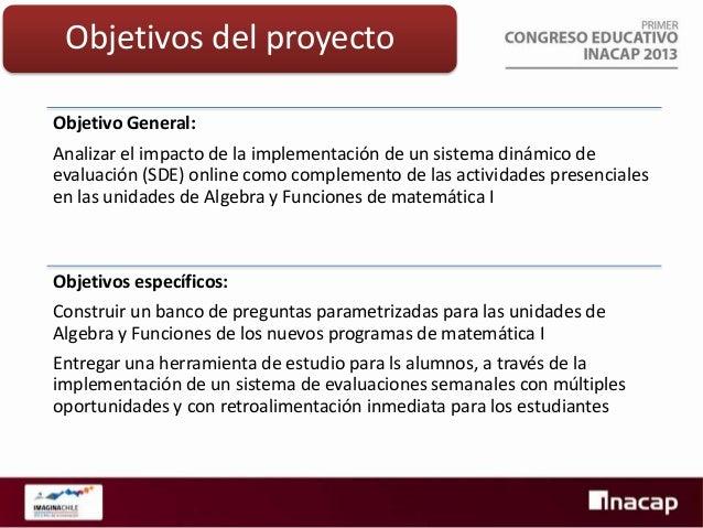 Etapas del proyecto Construcción de un banco de preguntas para álgebra y funciones  Implementación de la plataforma en cur...