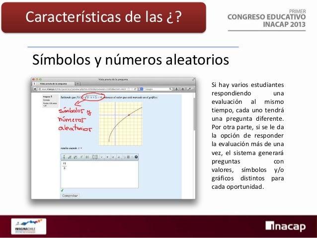 Características de las ¿?  Gráficos aleatorios Los gráficos pueden estar en función de los objetos que se definen aleatori...