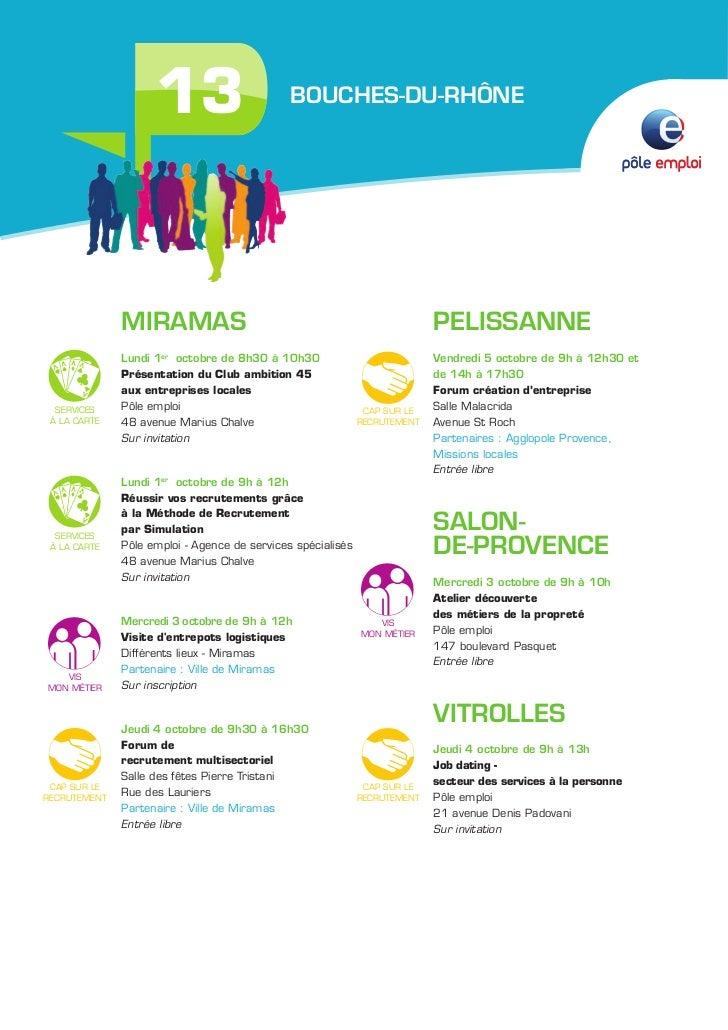 Programme des 5 jours pour l 39 emploi en paca - Pole emploi salon de provence ...