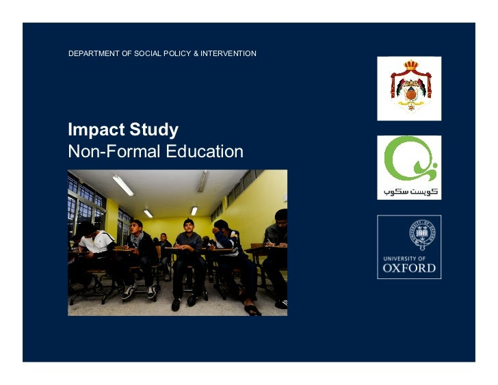 DEPARTMENT OF SOCIAL POLICY & INTERVENTIONImpact StudyNon-Formal Education