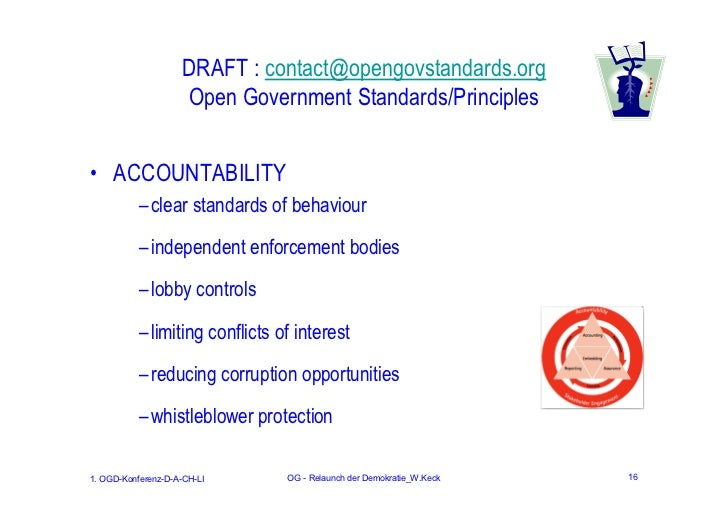 DRAFT : contact@opengovstandards.org                    Open Government Standards/Principles• ACCOUNTABILITY           – c...