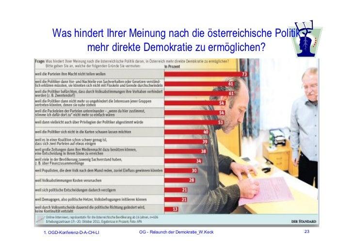 Was hindert Ihrer Meinung nach die österreichische Politik           mehr direkte Demokratie zu ermöglichen?1. OGD-Konfere...