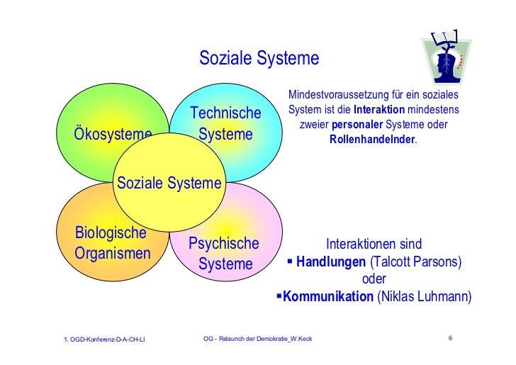 Soziale Systeme                                                          Mindestvoraussetzung für ein soziales            ...