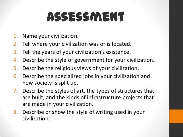 5 key elements of civilization