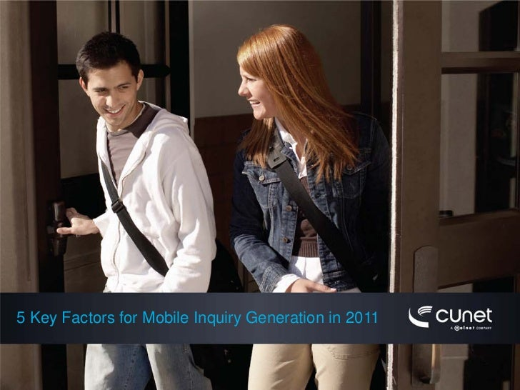 5 Key Factors for Mobile Inquiry Generation in 2011
