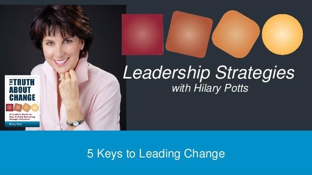 5 Keys to Leading Change Leadership Strategies with Hilary Potts