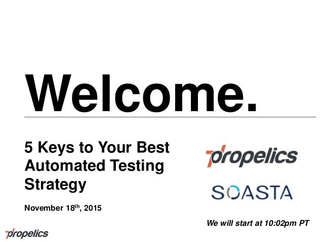 5 Keys to Your Best Automated Testing Strategy
