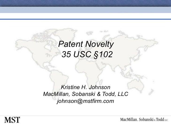 05-Patent Novelty 35 USC §102