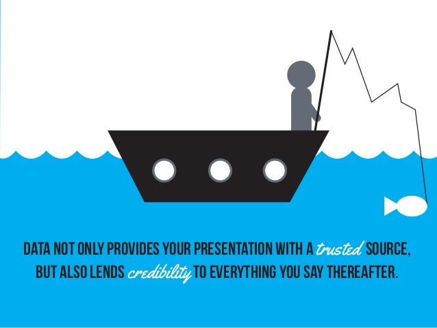 Data not only provides your presentation with a trusted source, but also lends credibilityto everything you say thereafter.