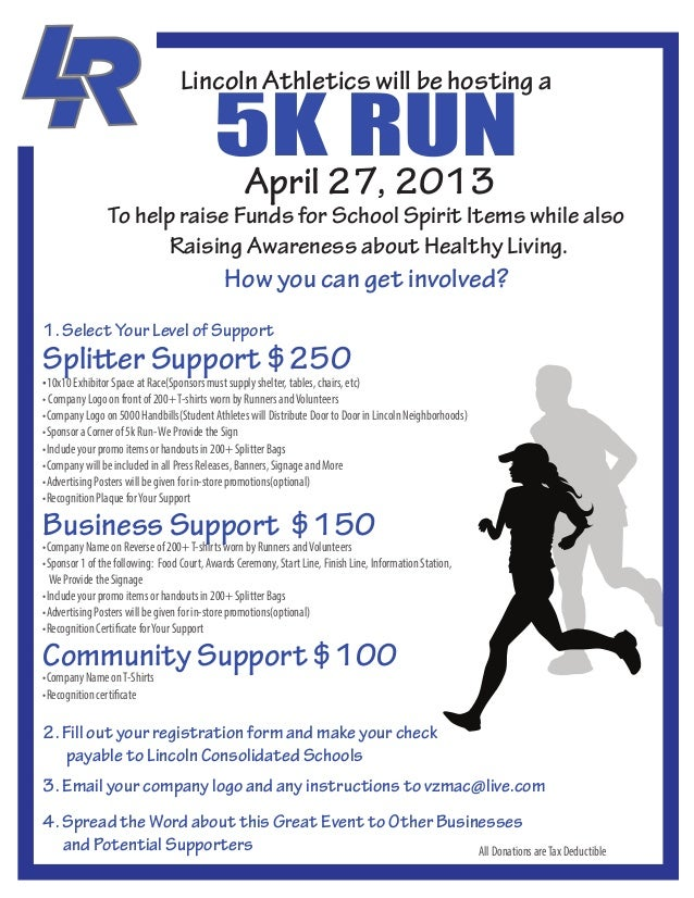 5K27, 2013                                                  RUN                                   Lincoln Athletics will b...