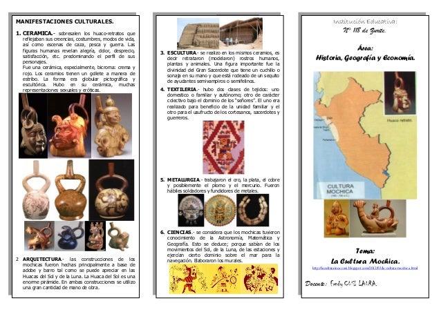 MANIFESTACIONES CULTURALES. 1. CERAMICA.- sobresalen los huaco-retratos que reflejaban sus creencias, costumbres, modos de...