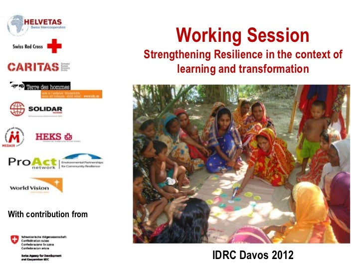Working Session                         Strengthening Resilience in the context of                                learning...
