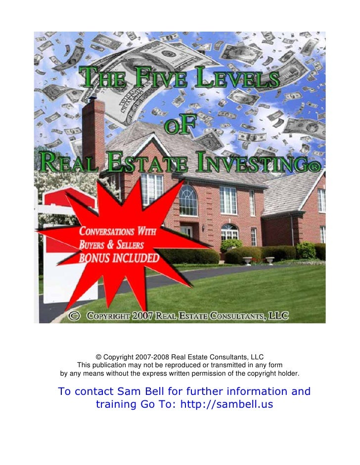 © Copyright 2007-2008 Real Estate Consultants, LLC      This publication may not be reproduced or transmitted in any form ...