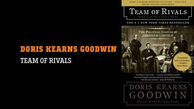 DORIS KEARNS GOODWIN TEAM OF RIVALS