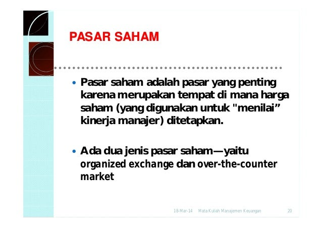 Sistem otc perdagangan saham ekspres