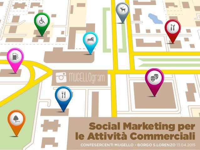 Social Marketing per le Attività Commerciali CONFESERCENTI MUGELLO - BORGO S.LORENZO 13.04.2015