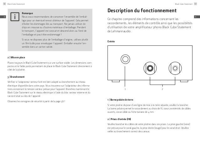 Lehmannaudio Black Cube Statement Manual 5 Languages