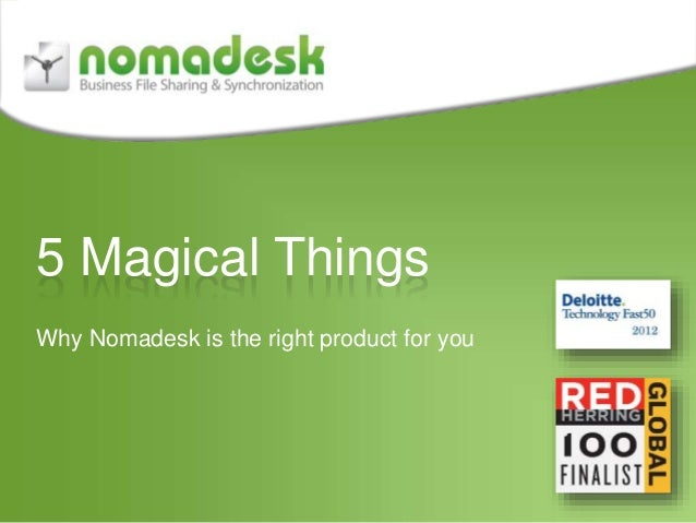 5 Magical Things Why Nomadesk is the right product for you