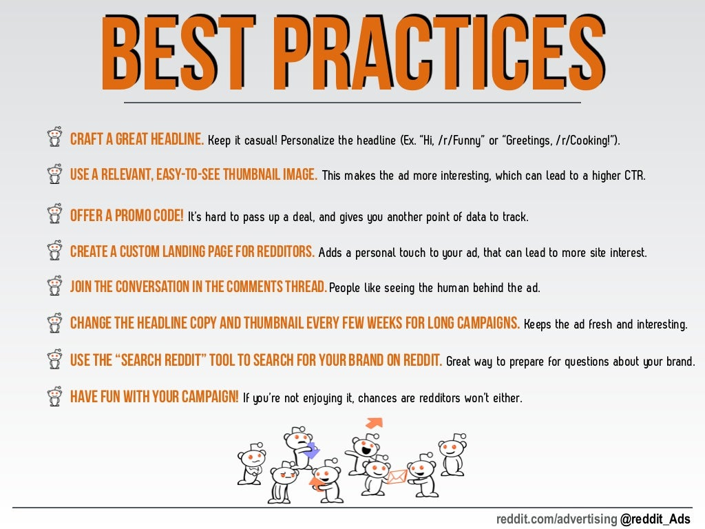 best Practices • Craft a