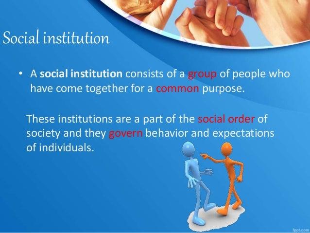 5 major social institutions in society