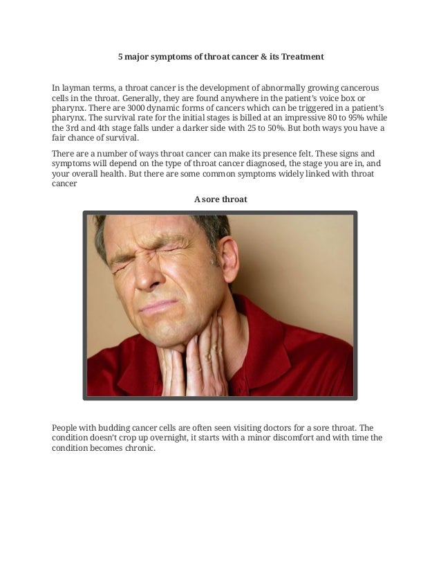 5 major symptoms of throat cancer &