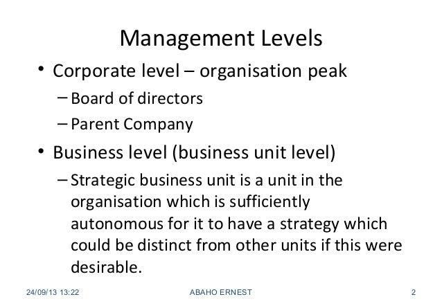 5 management levels Slide 2