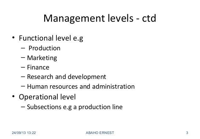 5 management levels Slide 3